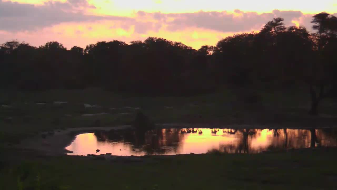 VIDEO:  Vibrant sunset reflecting on the water